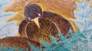 九谷焼作家、浅蔵五十吉先生の陶板アップ画像