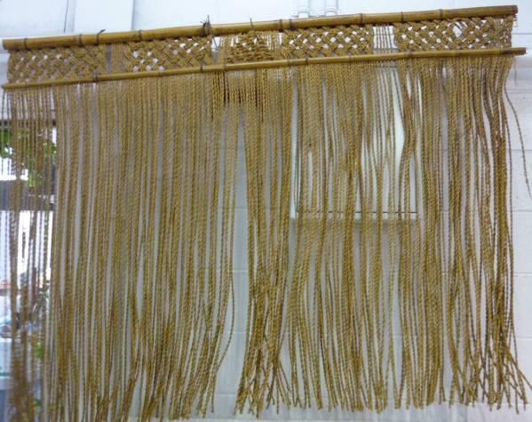 金沢で買取した藁の暖簾の写真