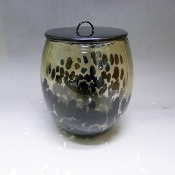 岩田糸子 硝子水指 ガラス