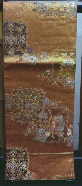 袋帯の宅配買取なら当店へ。素敵なオレンジ 花丸柄。着物や帯の買取を石川県で21年の実績♪親切丁寧に買取致します♪